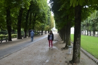 Walking through the Luxembourg Gardens on the first day.